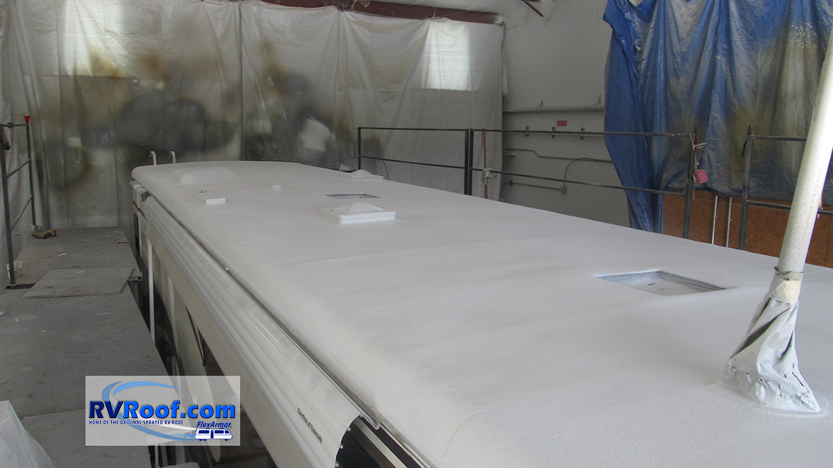 Class-A-with-sprayed-roof-FlexArmor-before-reassembly