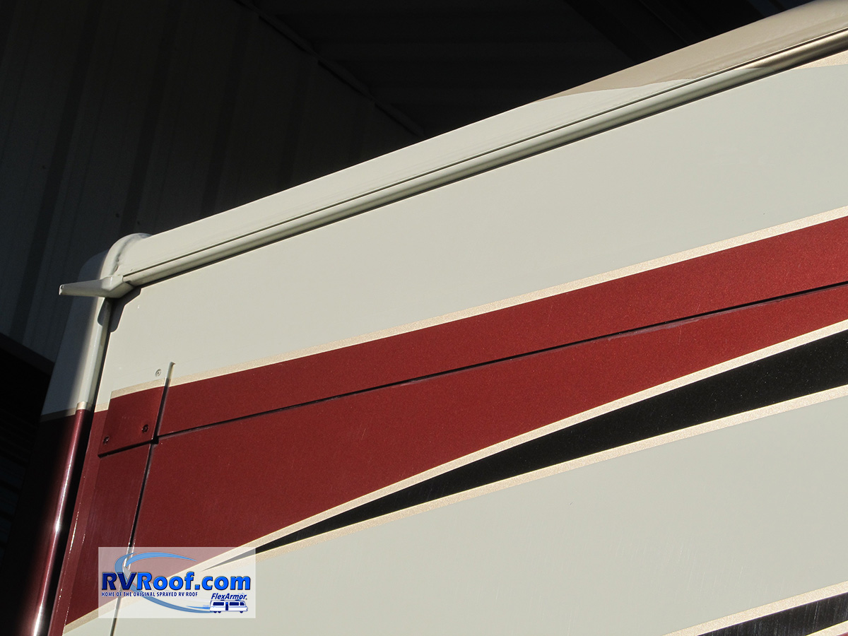 Custom-color-match-on-FlexArmor-roof-on-a-Redwood-fifth-wheel